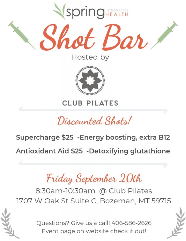 Shot Bar at Club Pilates Bozeman
